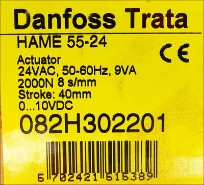 Danfoss Trata HAME 55-24 2000N 082H302201 Actuator -unused/OVP- – Bild 3