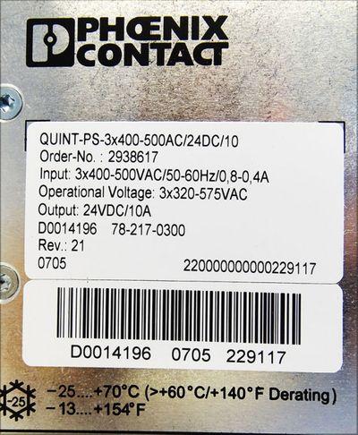 Phoenix Contact Quint Power Quint-PS-3x400-500AC/24DC/10 -used- – Bild 3