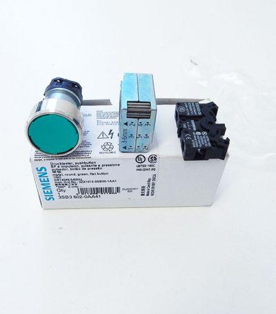 Siemens 3SB3602-0AA41 Druck-Taster grün  - unused - in OVP – Bild 1