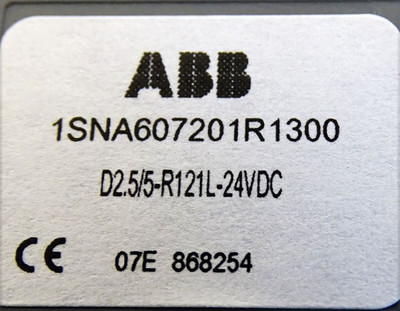 10X ABB 1SNA607201R1300 D2.5/5-MP D2.5/5-R121L-24VDC -unused/OVP- – Bild 3