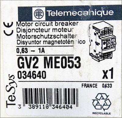 Telemecanique GV2 ME053  GV2ME053 0,63 - 1A Motorschutzschalter  -unused/OVP- – Bild 3