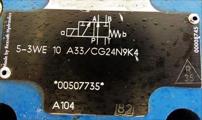 Rexroth Hydraulics 5-3WE 10 A33/CG24N9K4 53WE10A33/CG24N9K4 00507735 -used- – Bild 3