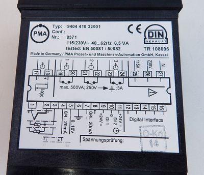 PMA / Philips KS90 Temperaturregler digital Typ:940441032001 - used - – Bild 3