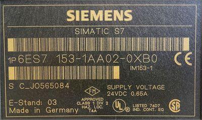 Siemens Simatic S7 6ES7 153-1AA02-0XB0 6ES7153-1AA02-0XB0 E: 03 -used- – Bild 3