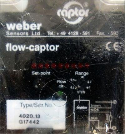 Weber flow-captor 4020.13 G17442 Durchfluss Auswerter -unused/OVP- – Bild 3