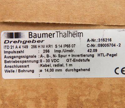 Baumer Thalheim ITD 21A4 Y49 256H NI KR1 S14 Drehgeber  - unused - in OVP – Bild 3