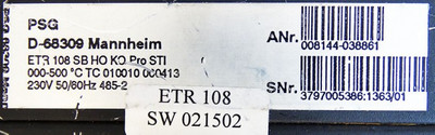 PSG Electronic ETR 108 SB HO KO Pro STI 008144-038861 Temp. Controller -used- – Bild 3