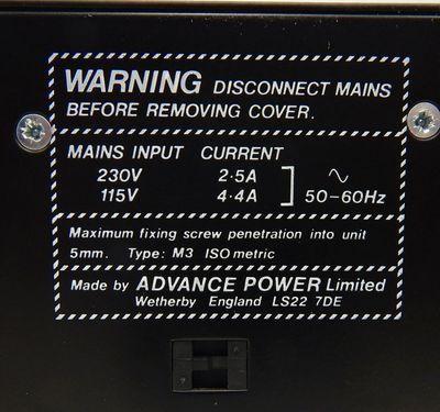 Advance/Siemens 32.1508.812-73 Netzteil 115/230V  12V DC  - used - – Bild 4