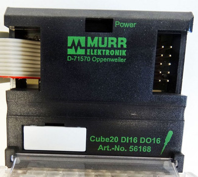 MURR Elektronik Cube20 DI16 DO16 Art: 56168 + Cube20 Klemmblock 56111 -used- – Bild 2