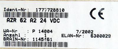 Schmersal AZR 62 A2 AZR62A2 24VDC Sicherheitsschaltrelais -unused/OVP- – Bild 3