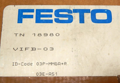 Festo Ventilinsel TN 18980 VIFB-03-B  - unused - in OVP – Bild 3