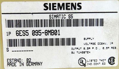 Siemens Simatic S5 6ES5 095-8MB01  6ES5095-8MB01 E-Stand: 2 -used- – Bild 3