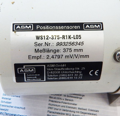 ASM Positions-Sensor WS12-375-R1K-L05  - unused - – Bild 2