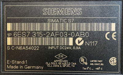 Siemens Simatic CPU315 6ES7 315-2AF03-0AB0 6ES7315-2AF03-0AB0 E:1 + Flash Card -used- – Bild 3