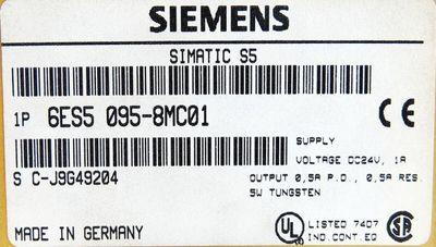 Siemens Simatic S5 6ES5 095-8MC01 6ES5095-8MC01 E-Stand: 6 -used- – Bild 3