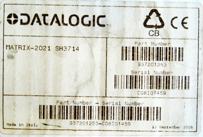 DATALOGIC MATRIX-2021 SH3714 MATRIX-2021SH3714 Barcode-Leser-Scanner -unused/OVP- – Bild 4