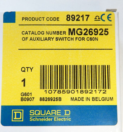 Schneider Electric Square D MG26925 Auxiliary Switch für CN60N  -unused- in OVP – Bild 2