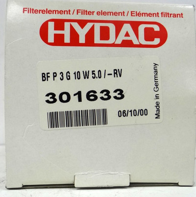 HYDAC Filter BF P 3 G 10 W 5.0 /-RV  301633 BFP3G10W5.0/-RV  301633 -unused/OVP- – Bild 2