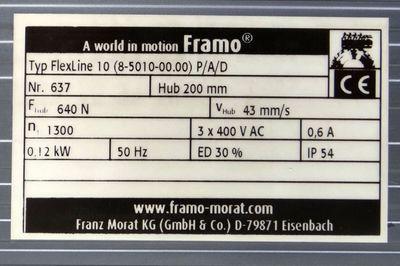 Framo Aufsteckgetriebemotor FlexLine 10 (8-5010-00.P/A/O -unused in box-  – Bild 2