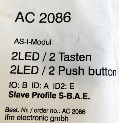 Ifm Electronic AC 2086 AC2086 AS-I-Modul -unused- – Bild 3