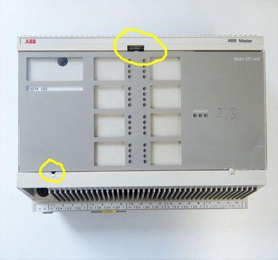 ABB Master  DSDX 452  Basic I/O Unit  Halterung fehlt   - used - – Bild 2