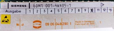Siemens 6DM1001-4WA05-1 6DM1 001-4WA05-1 E-Stand: 10 -used- – Bild 2