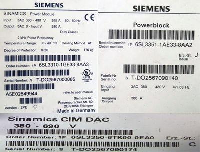Siemens SINAMICS 6SL3310-1GE33-8AA3 6SL3 310-1GE33-8AA3 Power Module -used- – Bild 3