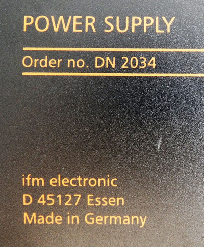 Ifm Electronic DN 2034 DN2034  SL20.602  24VDC/20A Power Supply -used- – Bild 3
