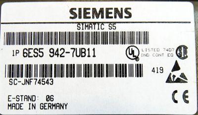Siemens 115U-CPU 6ES5942-7UB11 E:6 + Ram-Modul 6ES5375-0LD31 E: 5 - used - – Bild 2