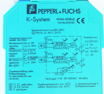 Pepperl+Fuchs  K-System KHA6-SS1/Ex2 Part:20654S  - used - – Bild 3