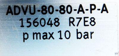 Festo ADVU-80-80-A-P-A Nr. 156048 R7E8 pmax 10 bar Pneumatikzylinder -used- – Bild 3