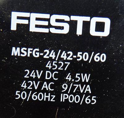 FESTO MFH-5-1/8 Nr. 9982 + MSFG-24/42-50/60 Magnetventil -used- – Bild 3