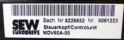 SEW EURODRIVE MDV60A-00 8226652 Steuerkopf/Controlunit -used- – Bild 2