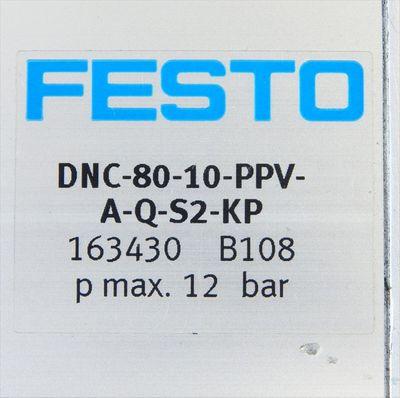 Festo DNC-80-10-PPV-A-Q-S2-KP Zylinder & Feststellpatrone KP-25-5000  - unused - – Bild 3
