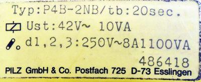 Pilz P4B-2NB/tb:20sec 486418 Sicherheitsschaltrelais -unused- – Bild 3