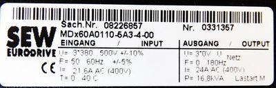 SEW Eurodrive MCF40A0110-5A3-4-00 MDx60A0110-5A3-4-00 Movidrive Compact -used-  – Bild 4