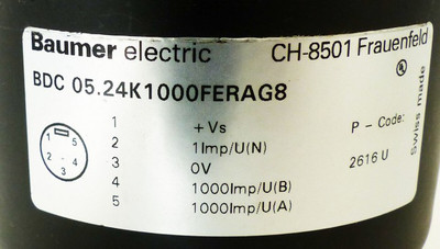 Baumer electric BDC 05.24K1000/FERAG8  BDC05.24K1000/FERAG8 -used- – Bild 2