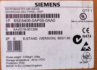 Siemens MICROMASTER 6SE6406-0AP00 6SE6 406-0AP00 E-Stand: B03/1.60 -unused/OVP- – Bild 3