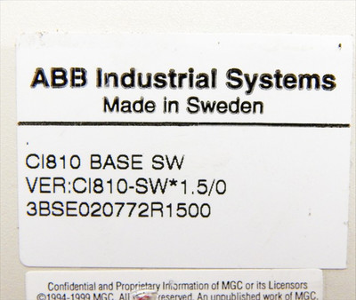 ABB CI810A Field - Communication - Interface  Vers: CI810-SW*1.5/0   - used - – Bild 5