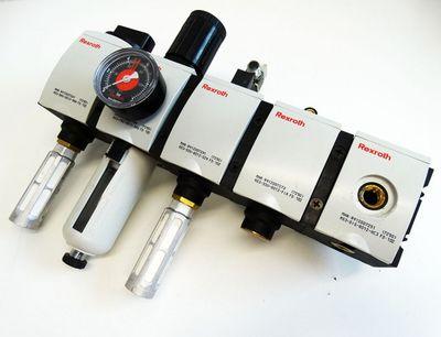 Rexroth AS3 Serie Druckluft-Wartungseinheit + Manometer -used- – Bild 1
