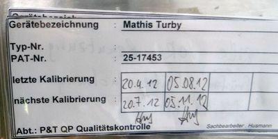 Mathis Turby T 769 Färbeapparat T769 25-17453 - used - – Bild 6