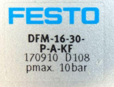 Festo DFM-16-30-P-A-KF Nr. 170910 pmax.10bar Führungszylinder -unused- – Bild 3
