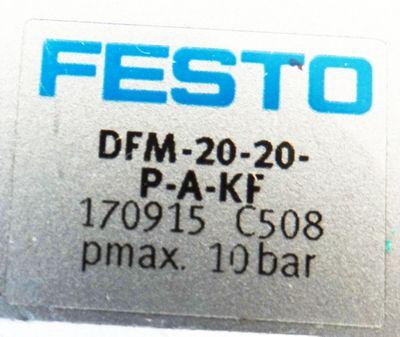 Festo DFM-20-20-P-A-KF Nr. 170915 pmax. 10bar Führungszylinder -used- – Bild 3