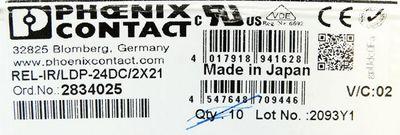 Phoenix Contact REL-IR/LDP-24DC/2X21  2834025 VE=8 Stück Steckrelais -unused/OVP – Bild 3