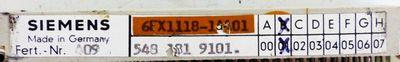 Siemens 6FX1118-1AA01 6FX1 118-1AA01 E-Stand: B01 -used- – Bild 2