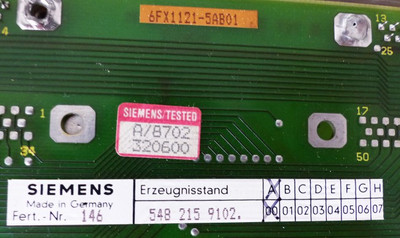 Siemens SINUMERIK 6FX1121-5AB01 548 215.9102.00 E-Stand: A00 -used- – Bild 2