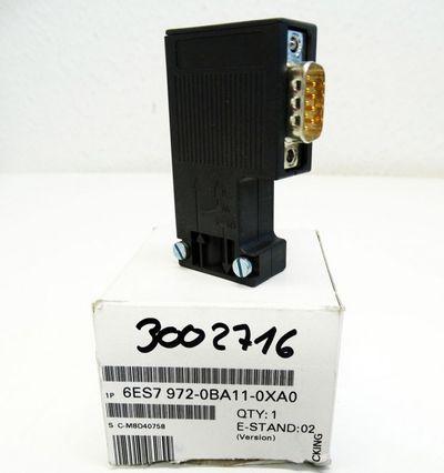 Siemens Profibusstecker 6ES7972-0BA11-0XA0 6ES7 972-0BA11-0XA0 E:02 -unused/OVP- – Bild 1