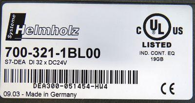 Helmholz 700-321-1BL00 7003211BL00  DI 32xDC24V E-Stand: k.A -used- – Bild 3