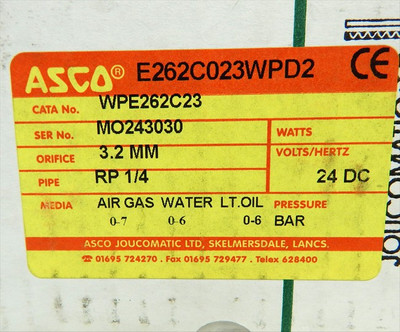 ASCO Joucomatic Magnetventil 24V DC  WPE262C23  0-6 Bar  - unused - in OVP – Bild 4