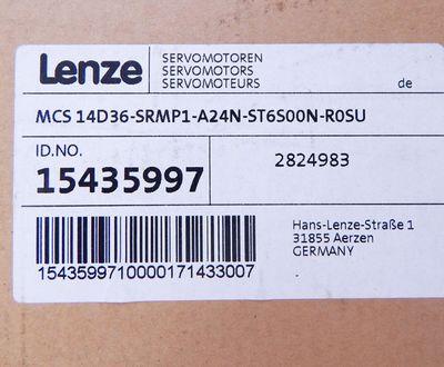 Lenze MCS14D36-SRMP1-A24N-ST6S00N-R0SU Servomotor 3600r/min  - unused - in OVP – Bild 3